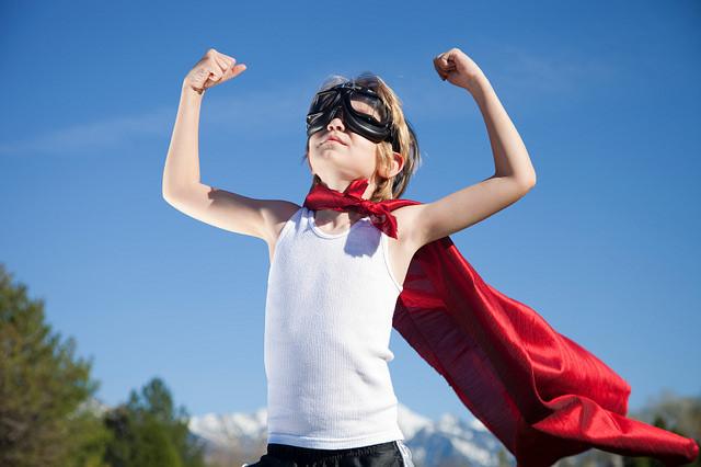 superhero, child, skills